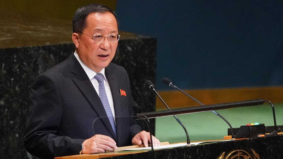 North Korean Foreign Minister Ri Yong-ho addresses the 73rd United Nations General Assembly on September 29, 2018, at the United Nations in New York.