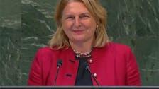اقوام متحدہ: آسٹریا کی وزیر خارجہ کی عربی میں گفتگو