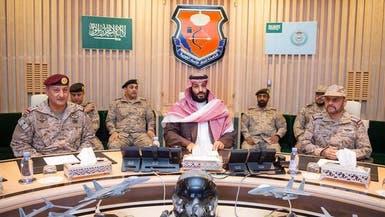 شاهد.. محمد بن سلمان يشرف على سير عمليات قوات التحالف