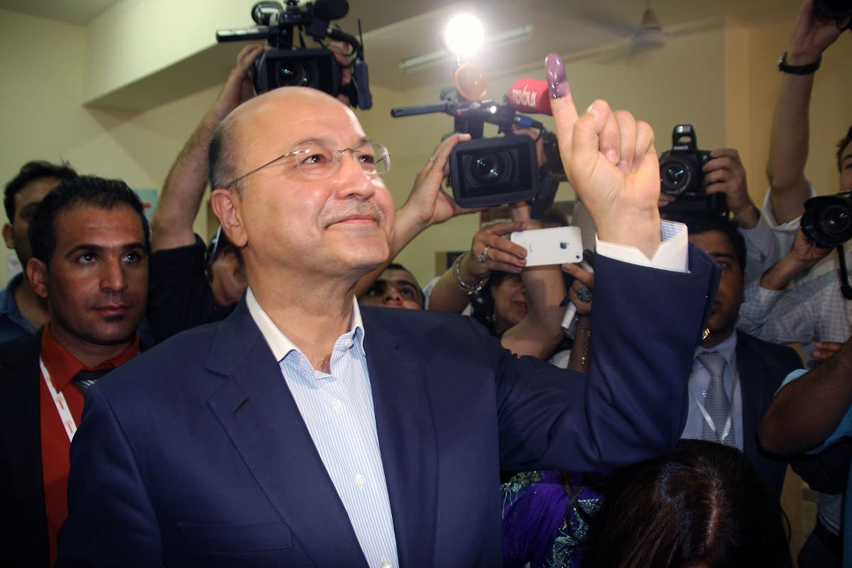 Barham Salih Iraq. (AFP)