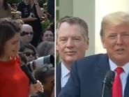 شاهد ترمب يهين إعلامية أميركية ويسخر منها بالبيت الأبيض