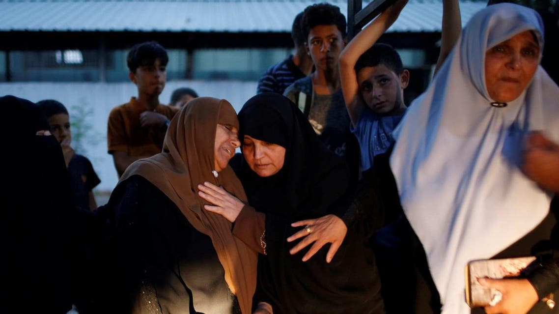 The mother of a Palestinian who was killed during a protest near the Israeli Erez crossing, reacts at a hospital in the northern Gaza Strip on October 3, 2018. (Reuters)