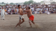 VIDEO: Dirt sport Kabaddi continues to draw crowds in rural Pakistan