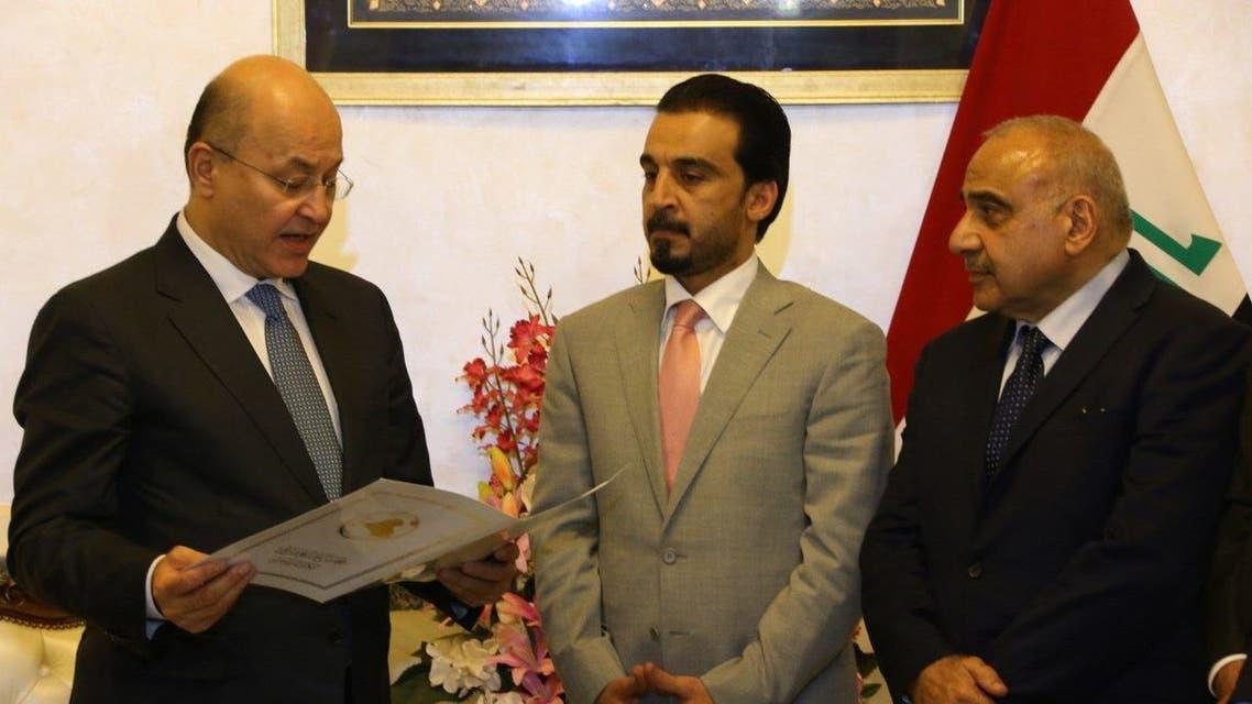 عادل عبد المهدي (يمين) وبرهم صالح (يسار)