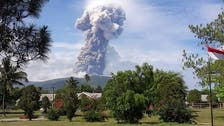 After earthquake, volcano erupts on Sulawesi Island in Indonesia