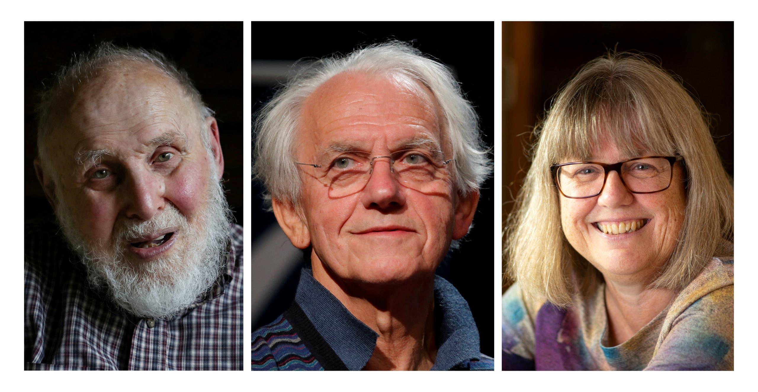 العلماء الثلاثة الفائزون بنوبل للفيزياء 2018