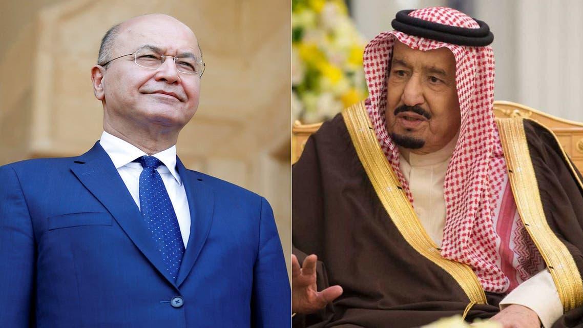 الملك سلمان وبرهم صالح