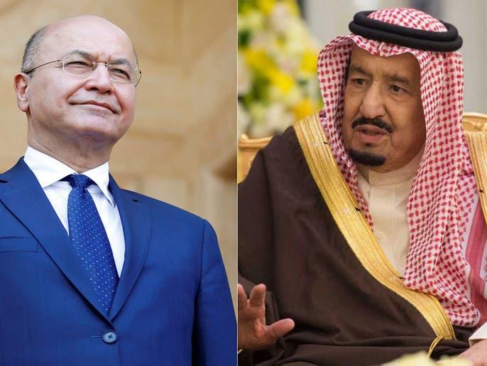 ملک سلمان با برهم صالح توسعه روابط میان سعودی و عراق را بررسی کرد