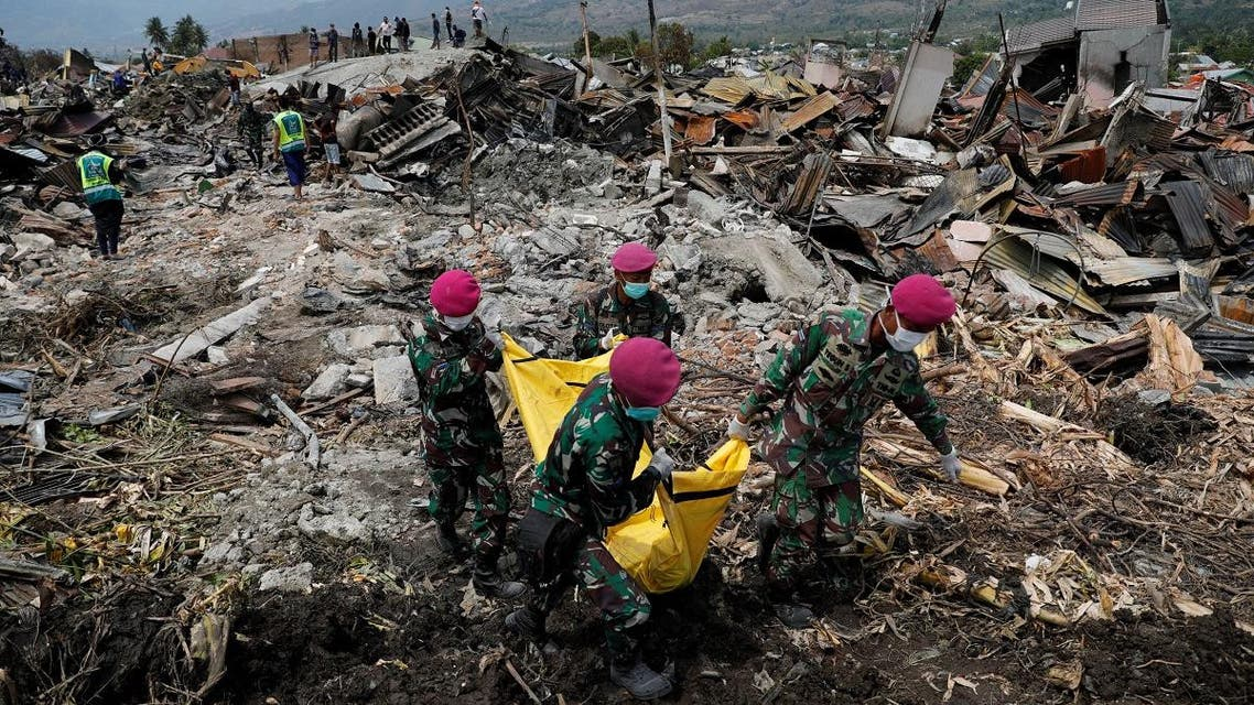 Indonesia earthquake aid. (Reuters)