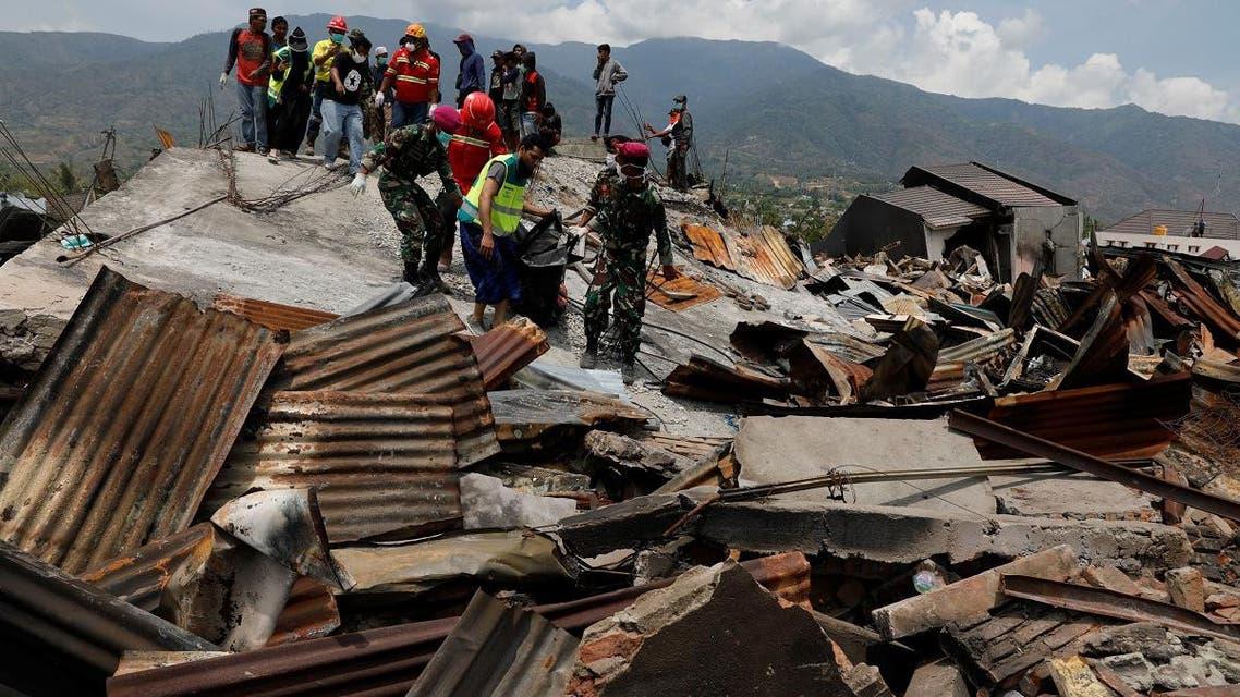 Indonesia earthquake aid. (Reuters)