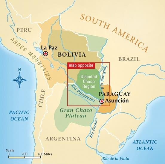 صورة لشمالي منطقة تشاكو المتنازع عليها بين الباراغواي و بوليفيا