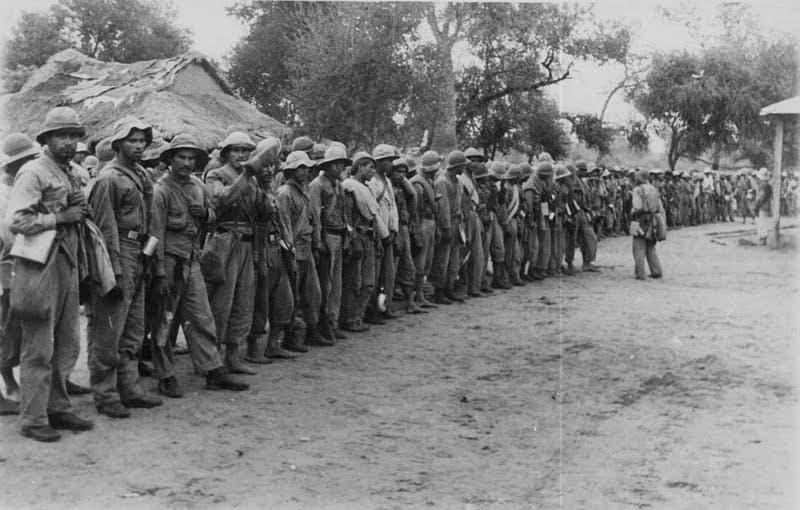 جانب من قوات الباراغواي التي شاركت في حرب تشاكو