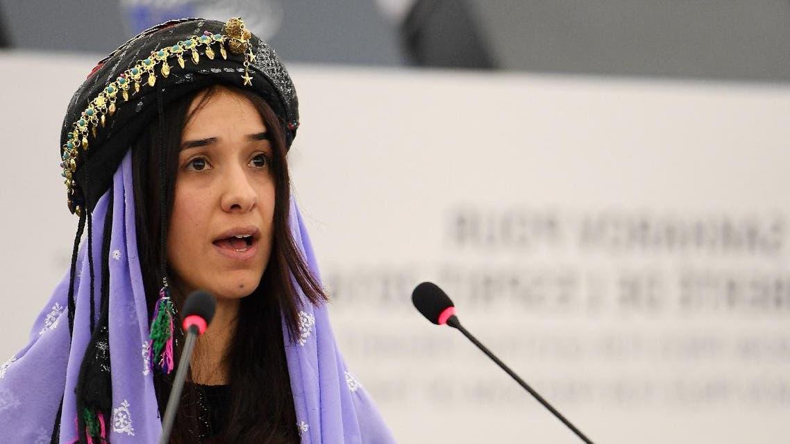 Nadia Murad Yazidi ISIS captive. (AFP)