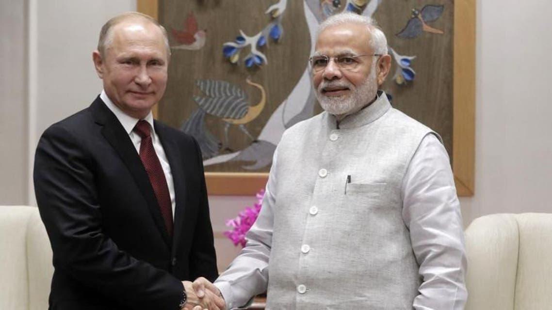 putin Modhi Russia India. (AFP)d