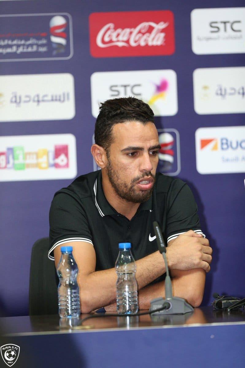 حازم إمام لاعب الزمالك في المؤتمر الصحافي قبل مواجهة السوبر