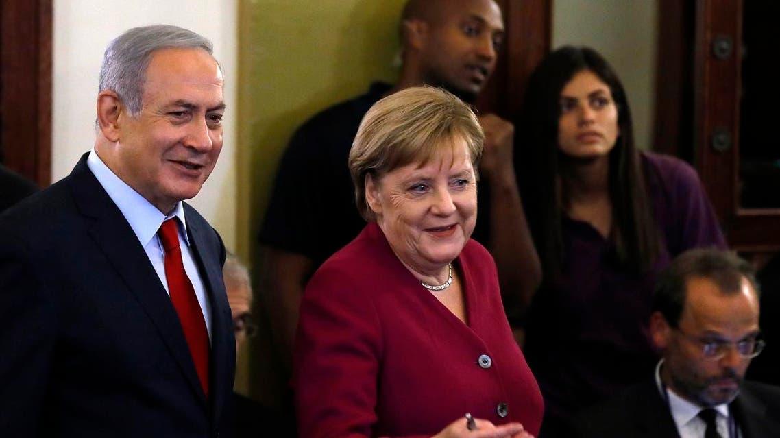 Merkel Netanyahu. (AFP)