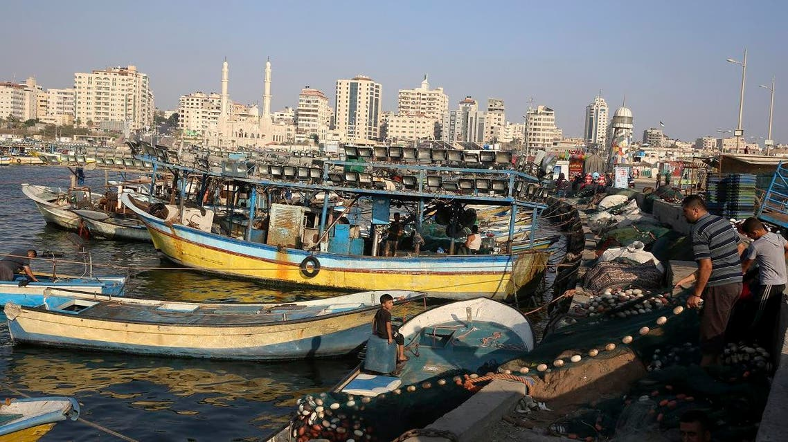 Palestinian fisherman (AP)