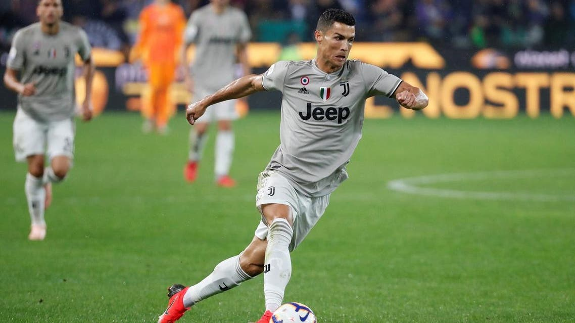 Cristiano Ronaldo in action against Udinese in Serie A on October 6, 2018. (Reuters)