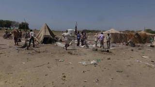 اليمن.. مقتل امرأة في قصف حوثي على مخيم لاجئين بالحديدة