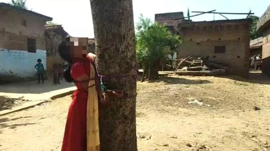 A Muslim girl was tied to a tree and flogged mercilessly by a group of villagers in India's Bihar state earlier this week for eloping with a Hindu boy. (Times of India)