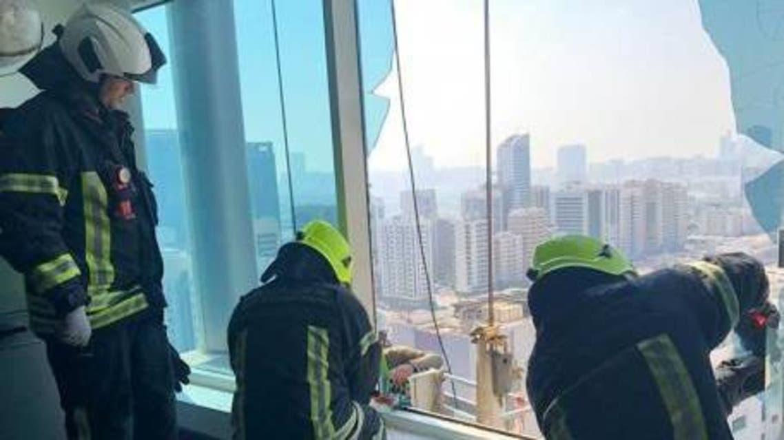 abu dhabi workers rescued (Abu Dhabi Police)