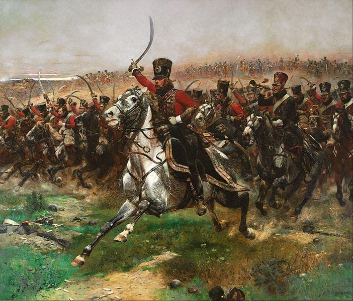 صورة لعدد من جنود احدى فرق الفرسان الفرنسية خلال عهد نابليون بونابرت
