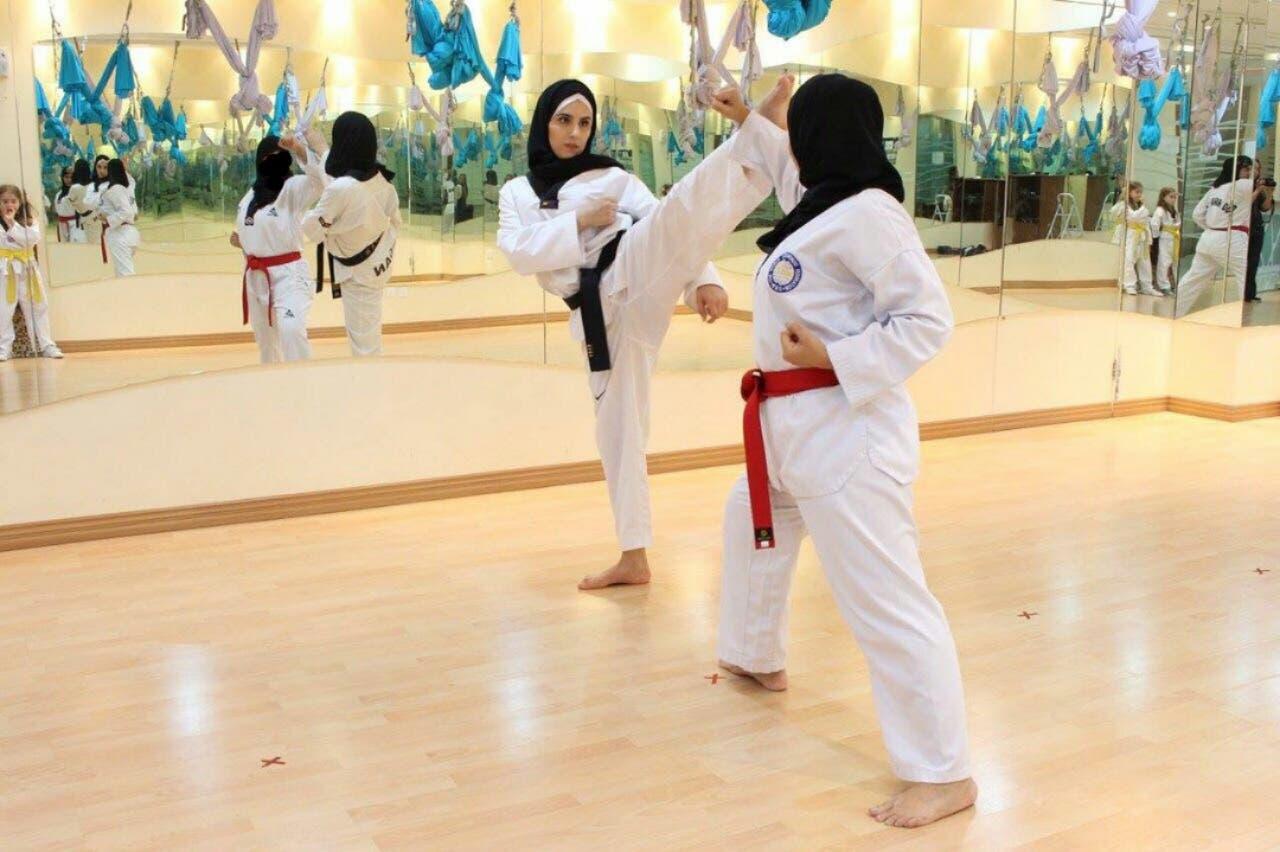 Saudi women Taekwondo. (Supplied)