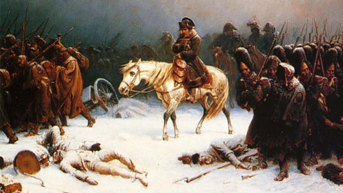 لوحة زيتية للجيش الفرنسي خلال الحملة العسكرية على روسيا