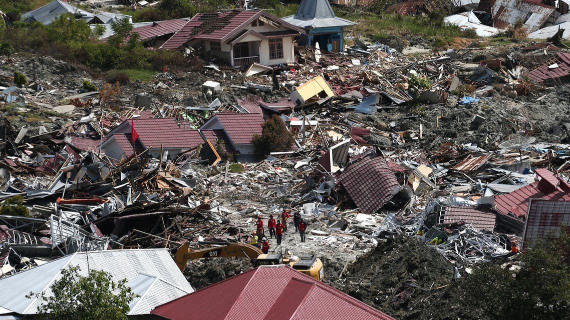 An aerial view of the destruction caused by an earthquake and liquefaction in the Petabo neighbourhood in Palu, Central Sulawesi, Indonesia, October 7, 2018. REUTERS/Athit Perawongmetha