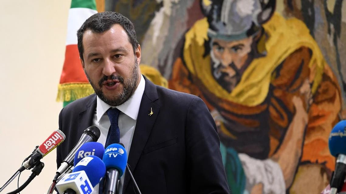 Italy's far-right Interior Minister Matteo Salvini (AFP)