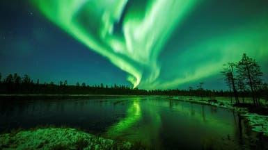 فيديو ساحر.. أمواج خضراء تتلألأ في سماء القطب الشمالي