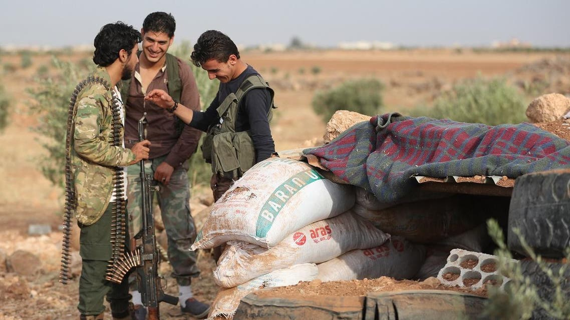 Syrian militant-fighters from the National Liberation Front (NLF) (AFP)