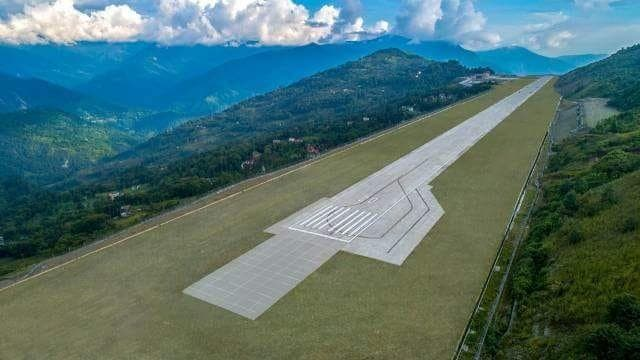 The greenfield airport is an engineering wonder for its soil reinforcement and slope stabilization techniques. (Supplied)