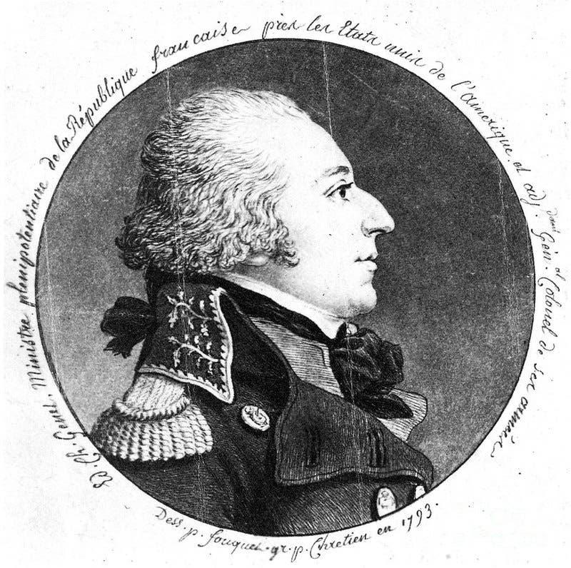 صورة للسفير الفرنسي إدموند شارل جينيت