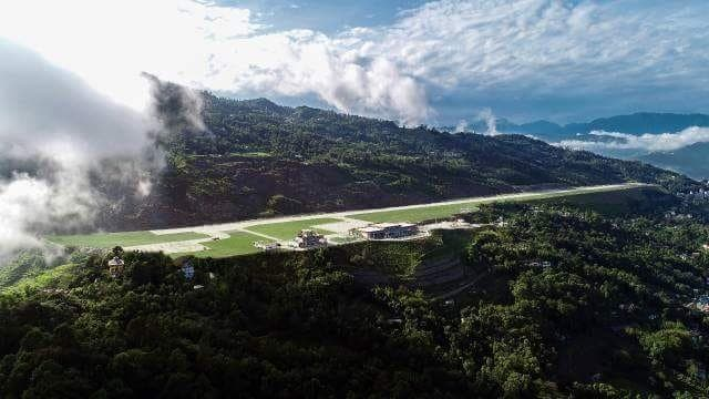 Built at a cost of cost of Rs 6.05 billion, over a period of time the airport will connect Sikkim with other countries in the region. (Supplied)