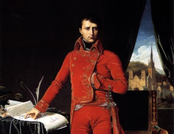 صورة لنابليون بونابرت وهو في زي القنصل الأول