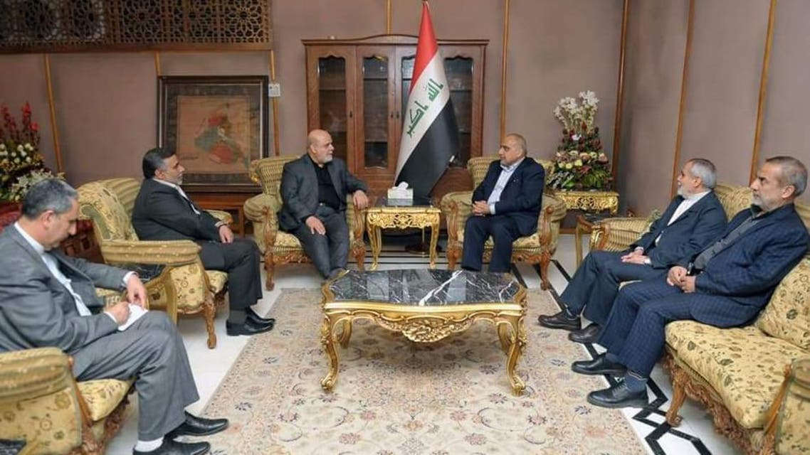 Abdul-Mahdi met with the Iranian envoy said the two discussed bilateral cooperation and economic and trade cooperation. (Supplied)