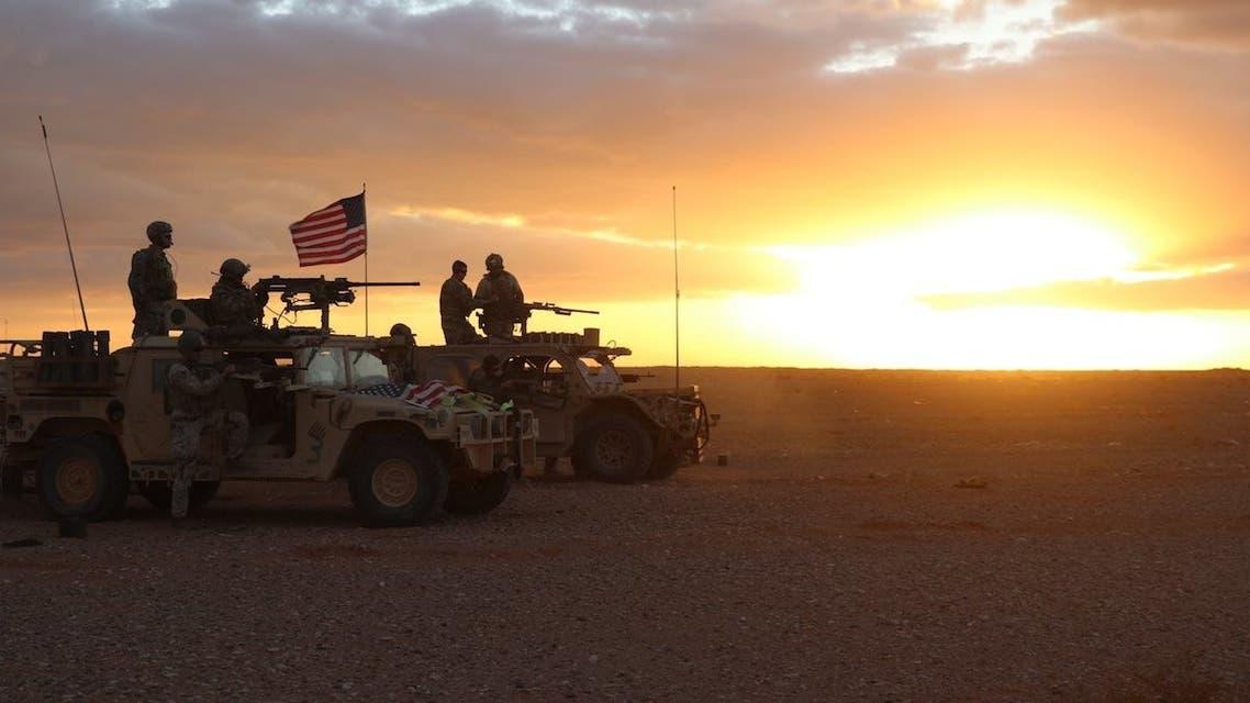 القوات الاميركية هاجمت فلول داعش في التنف سابقا