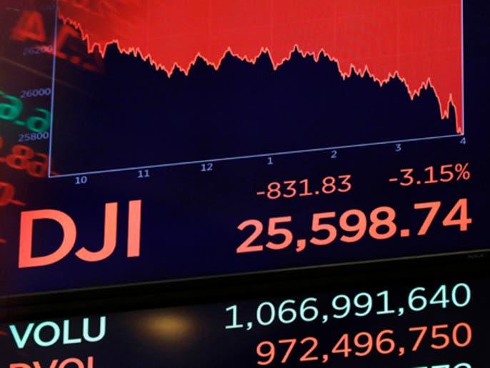 3 ضربات قاسية لأسواق الأسهم العالمية