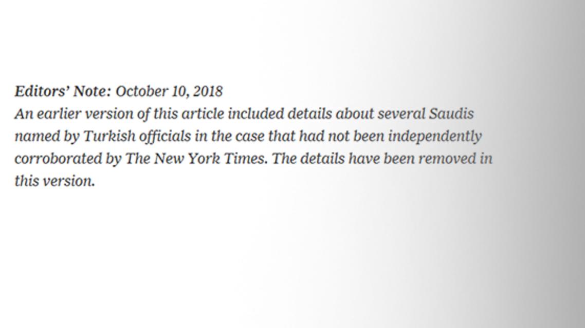 NYT editors note.d