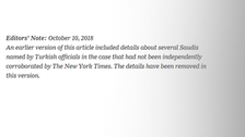 NYT admits to not corroborating details in article on Khashoggi