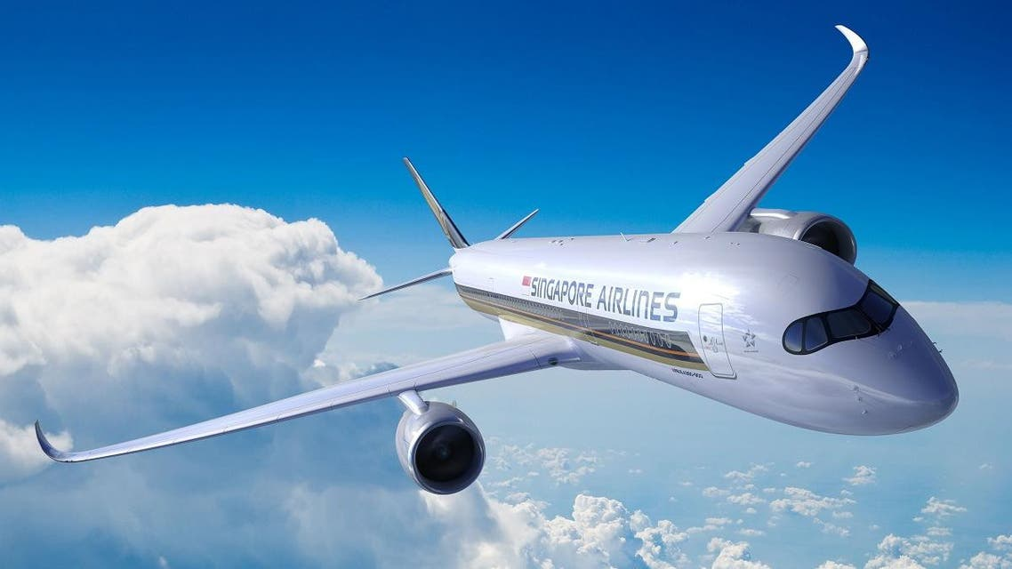 An A350-900ULR Airbus in flight. A new Singapore Airlines route connecting the city-state to the New York area became operational on October 11, 2018 becoming the longest commercial plane ride in the world. (AFP)
