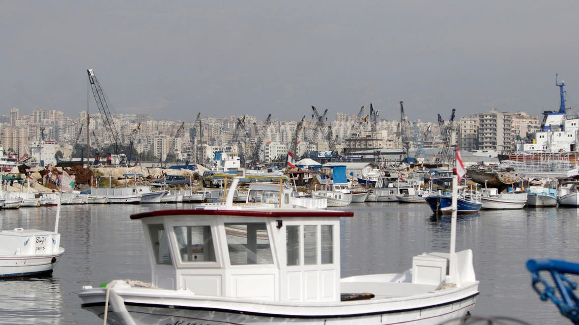 This picture shows the Tripoli harbour on May 27, 2018.