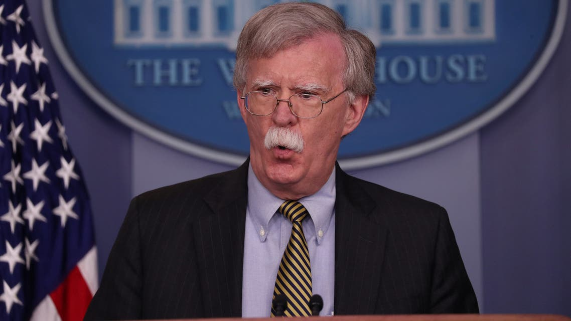 U.S. National Security Advisor John Bolton answers questions from reporters during a news conference in the White House briefing room in Washington, U.S., October 3, 2018. Picture taken October 3, 2018. REUTERS/Jonathan Ernst