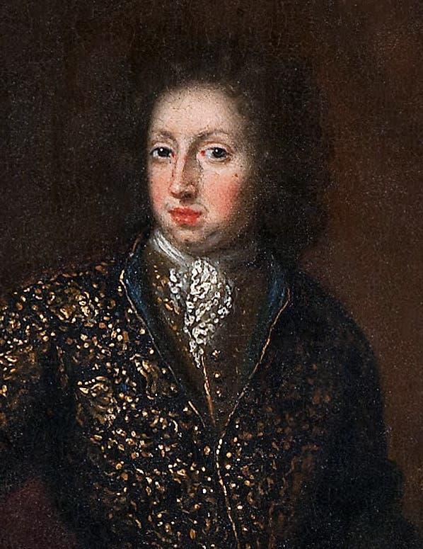 صورة لملك السويد شارل الحادي عشر