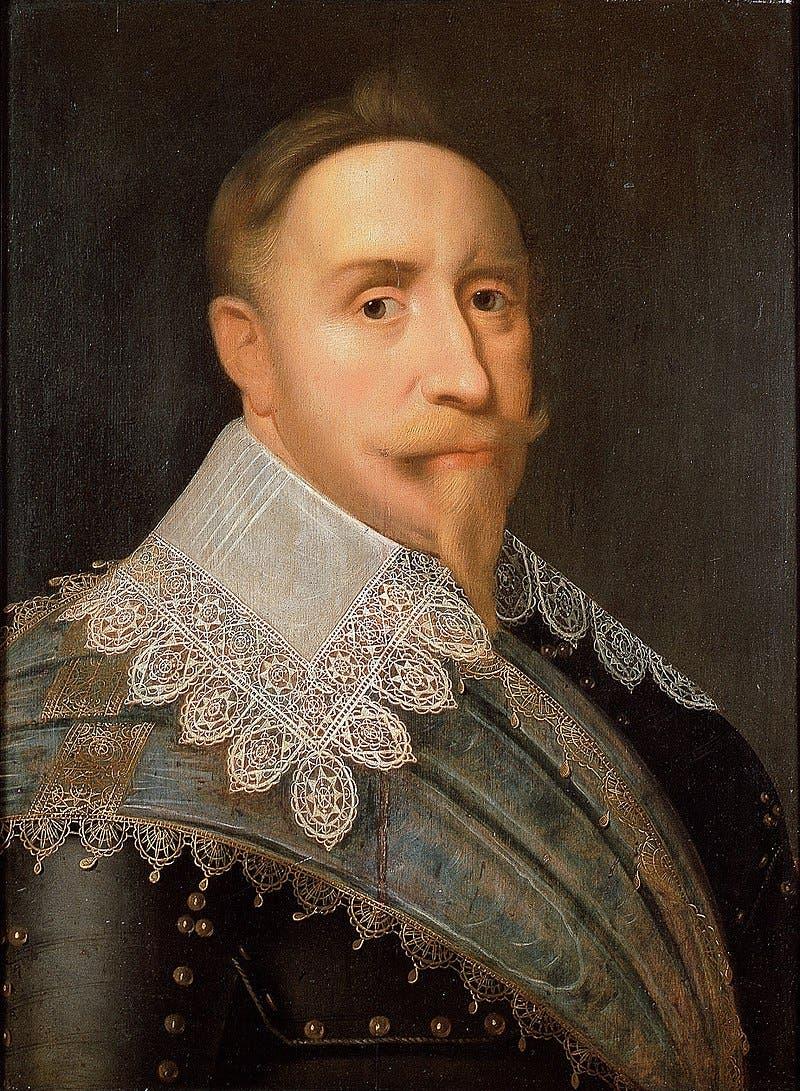 صورة لملك السويد غوستاف الثاني أدولف