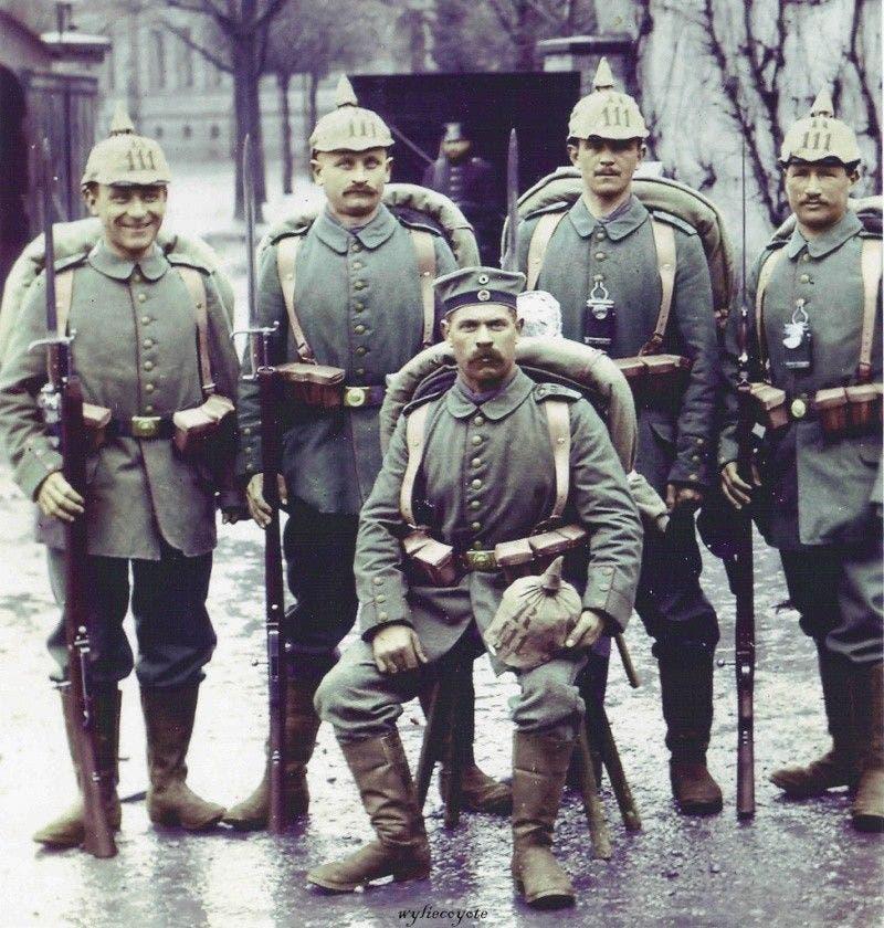 جانب من الجنود الألمان المشاركين بالحرب العالمية الأولى