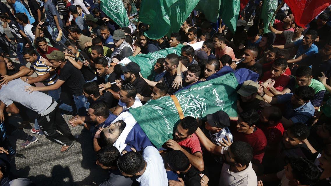 من تشييع ضحايا القمع الإسرائيلي في غزة
