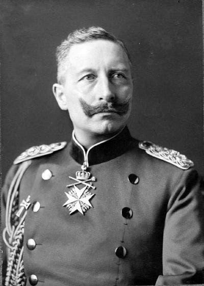 صورة للقيصر الألماني فيلهلم الثاني