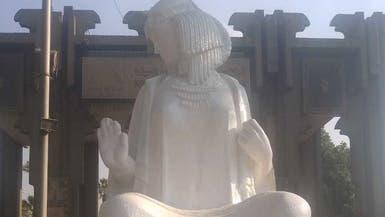 صور لتمثال تاريخي دهنوه بهدف تجميله.. فشوهوه